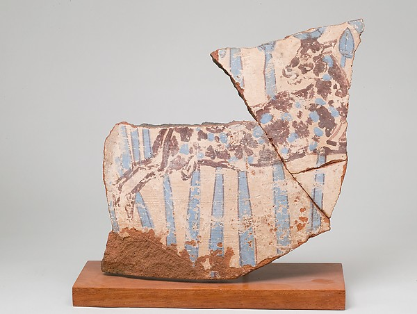 Blue-Painted Jar Fragment from Malqata