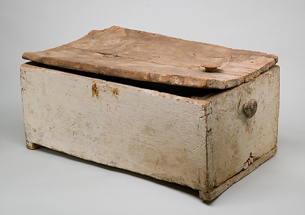 Linen Chest Reused as a Child's Coffin