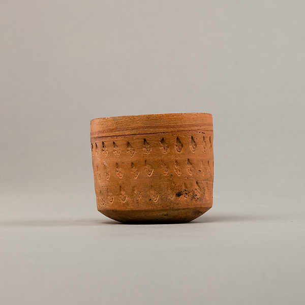 Cup with three rows of impressed decoration