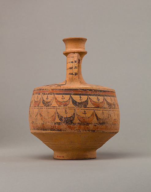Jug with painted decoration