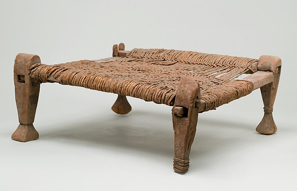 Stool with woven seat