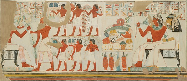 Offerings Made to the Deceased and his Wife, Tomb of Djehutyemheb