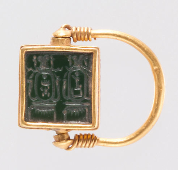 Finger Ring Inscribed with the Cartouches of Hatshepsut and Thutmose III