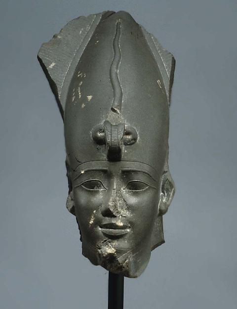 Head of Osiris wearing Atef Crown