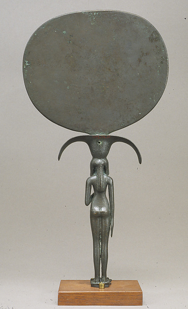 Mirror with a Handle in the Shape of a Young Woman Holding a Papyrus Umbel