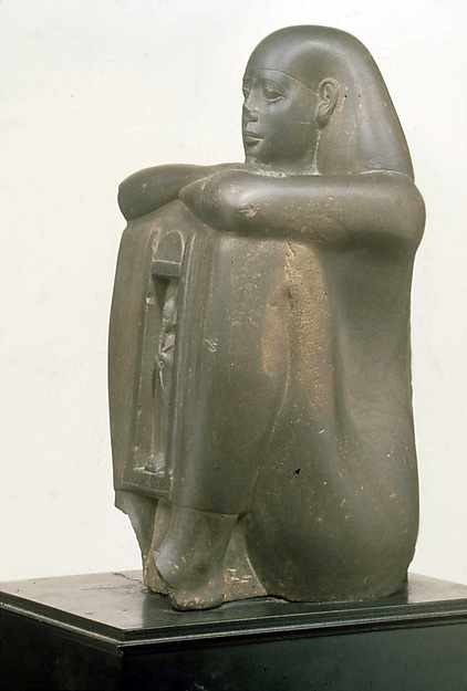 Naophorous Block Statue of a Governor of Sais, Psamtik[seneb]