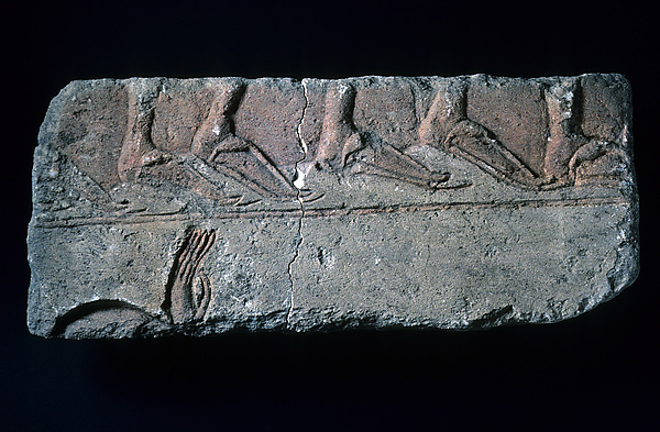 Relief fragment with sandalled feet