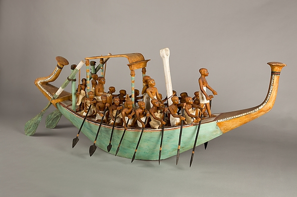 Funerary Boat being Rowed