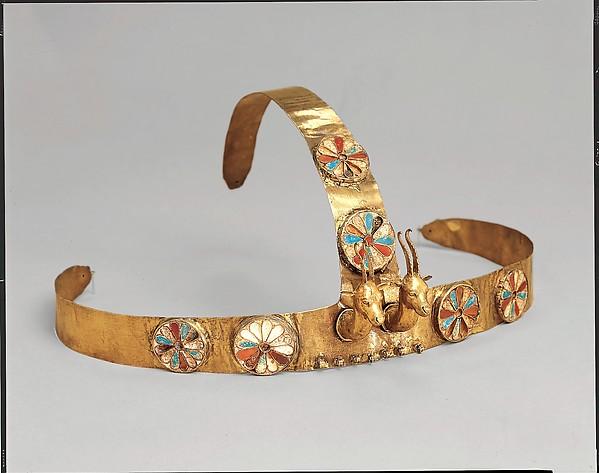 Diadem with two gazelle heads