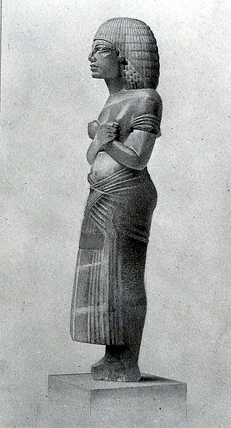 Facsimile Painting of an Alabaster Statuette