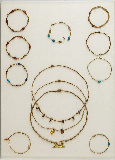 Necklace with 6 Taweret amulets