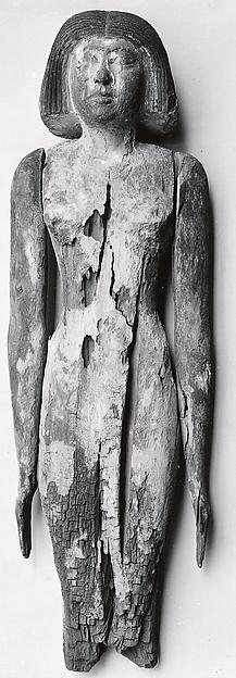 Standing statue of Merti's wife