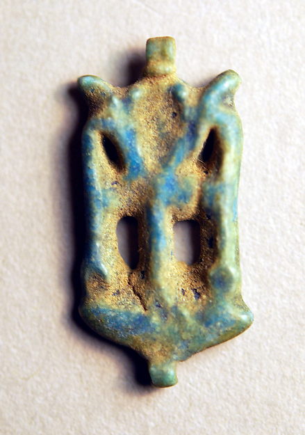 Amulet with an Ankh and Two Was Scepters