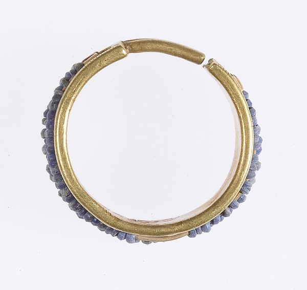 Beaded Penannular Earring