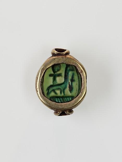 Scarab Set in a Ring Bezel