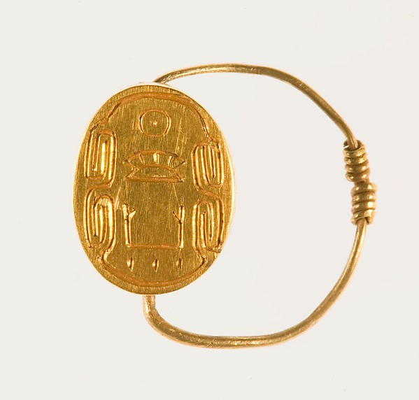 Scarab Finger Ring of Senwosret III