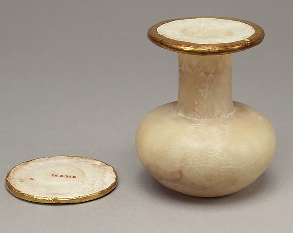 Bottle and lid naming Thutmose III