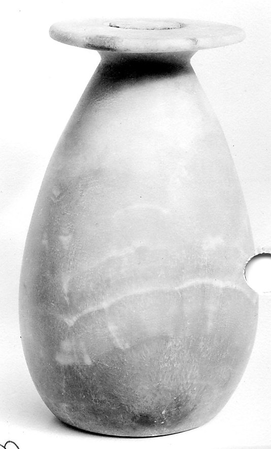 Tall Pear-Shaped Jar with Lid