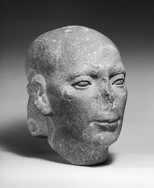 Head from a Large Statue of a Priest or Dignitary