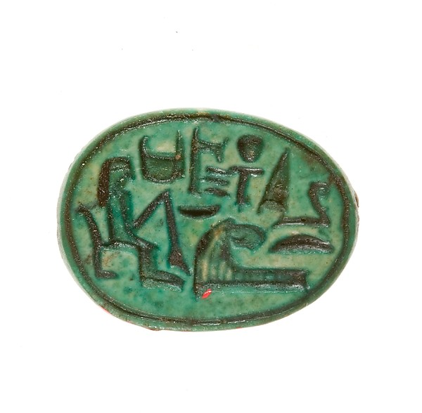 Scarab Inscribed for the God's Wife Hatshepsut, Given Life Forever