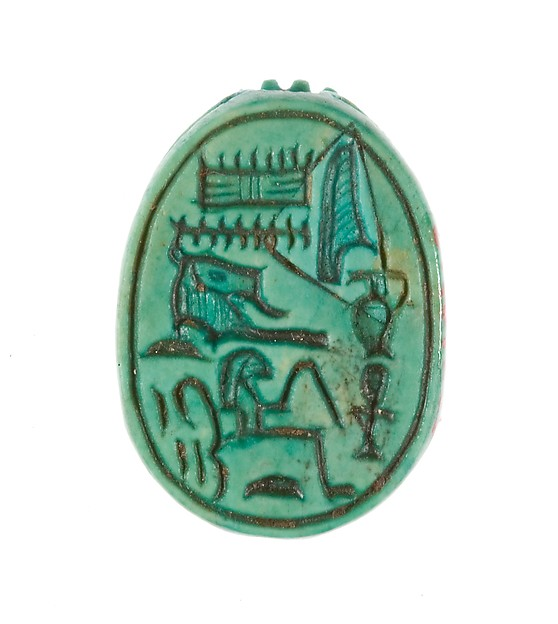 "Scarab Inscribed ""Hatshepsut, United with Amun"""
