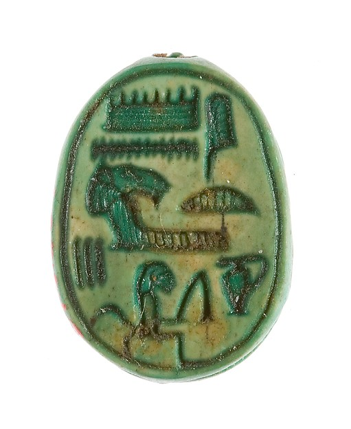 Scarab Inscribed Hatshepsut United with Amun