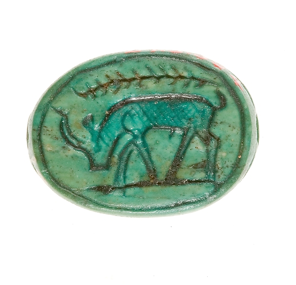 Scarab Inscribed with a Grazing Antelope