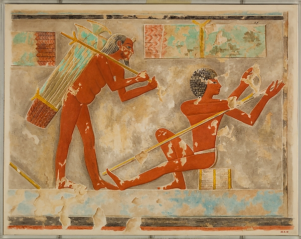 Men Splitting Papyrus, Tomb of Puyemre