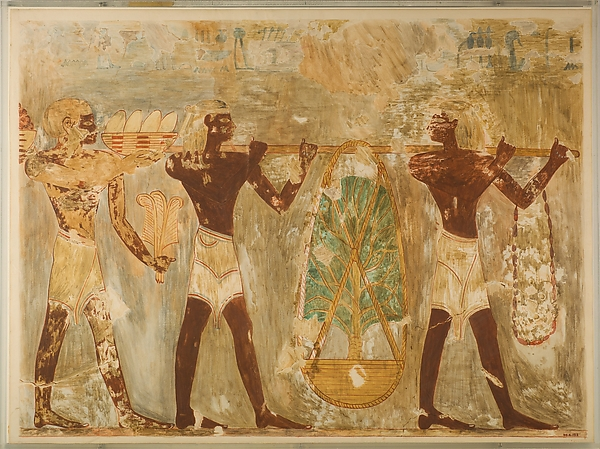 Men from Punt Carrying Gifts, Tomb of Rekhmire
