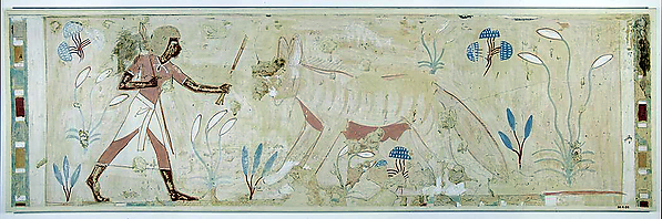 Man Confronting a Hyena, Tomb of Amenemhab