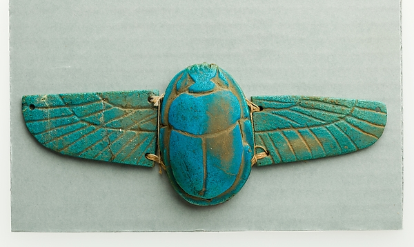 Winged scarab amulet