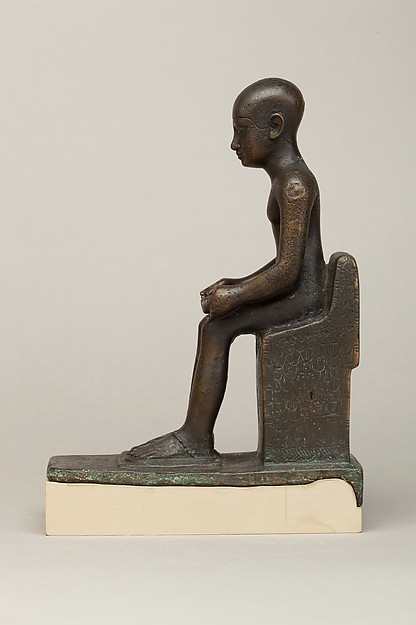 Statuette depicting Imhotep, donated by Padisu