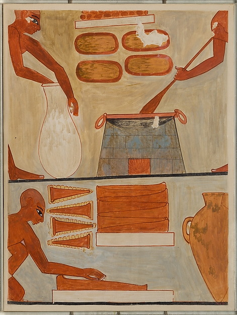 Preparing and Cooking Cakes, Tomb of Rekhmire