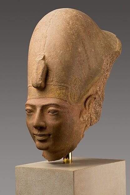 Head of King Amenmesse Wearing the Blue Crown