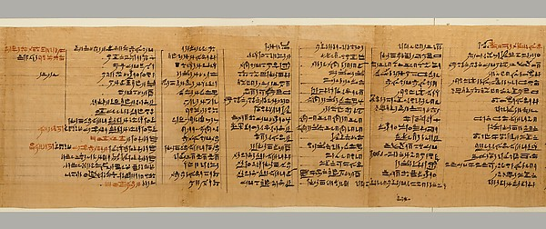 Religious texts on a papyrus belonging to the Priest of Horus, Imhotep