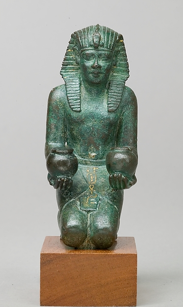 Kneeling statuette of King Amasis