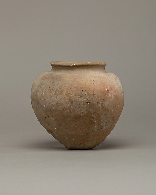 Unevenly made jar of desert clay