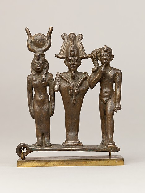 Triad of Osiris, Isis, and Horus