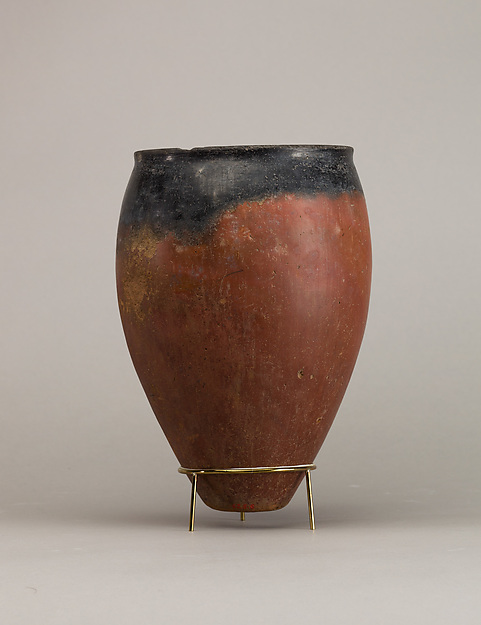 Black-topped red ware jar