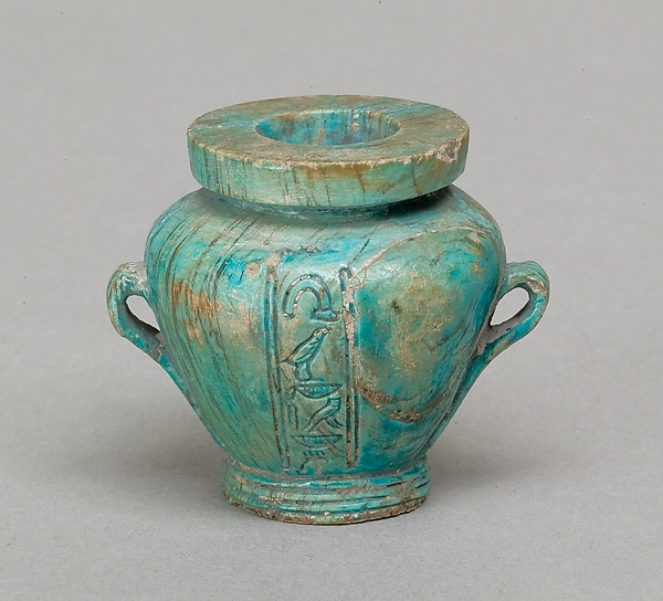 Toilet vase with two handles, inscribed for the Seal Bearer Kemes