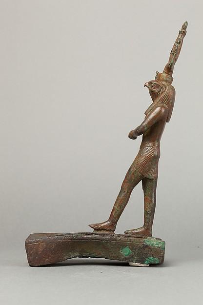 Statuette of Horus spearing an antelope