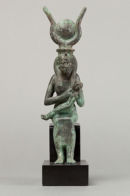 Statuette of Isis nursing Horus
