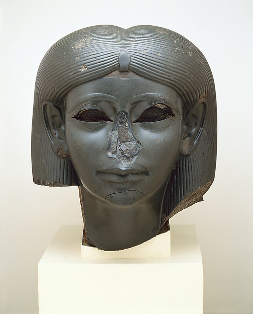 Head of a Statue of a Queen or Princess as a Sphinx