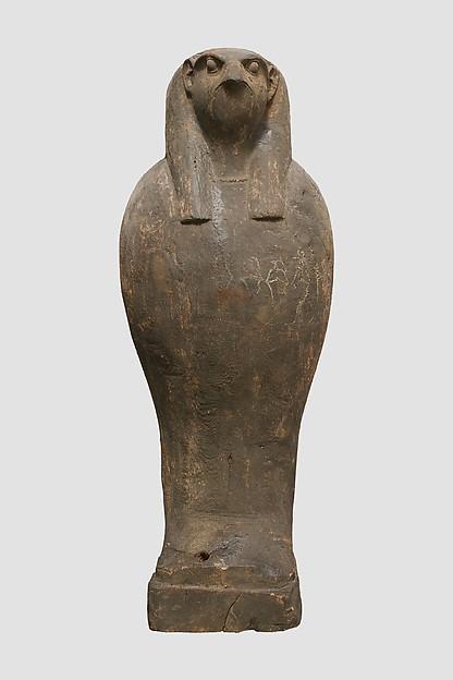 Coffin and Corn Mummy with Osiris mask