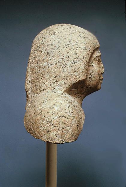 Head of male statue