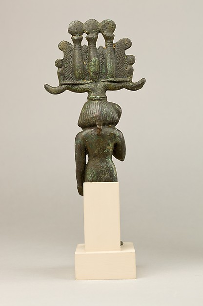 Child god in nemes and hemhem crown