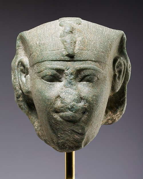 Head of a Sphinx, Possibly of Amenemhat I