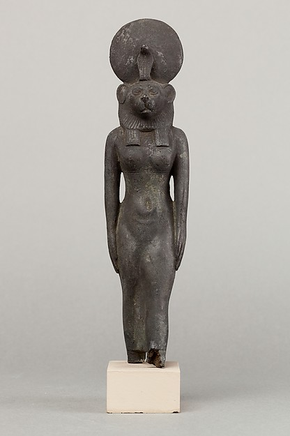 A lion headed goddess, probably Wadjet