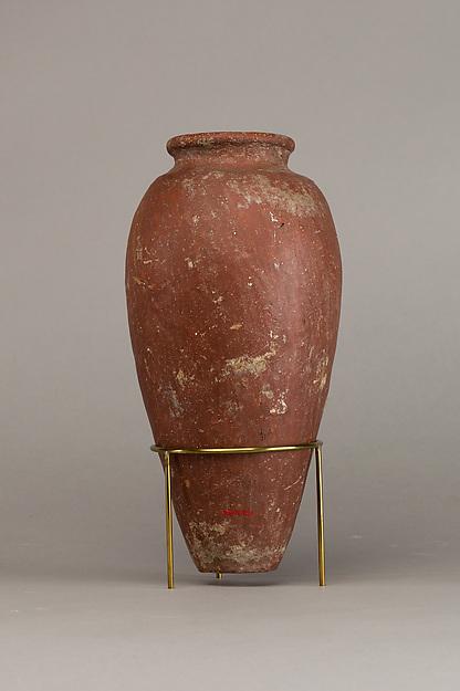 Large red polished ware jar