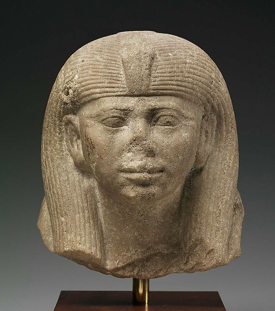 Head of a Statue of a Queen as a Sphinx